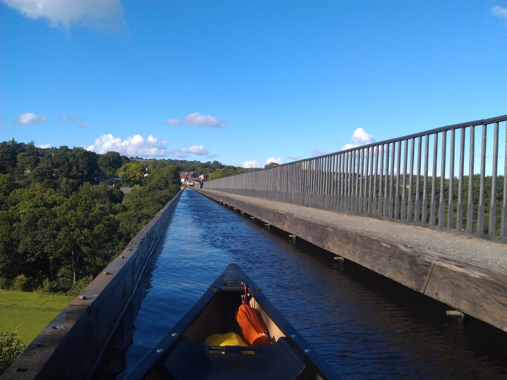 Canoe across the Pontcysyllte Aqueduct with Planet Tree Adventure