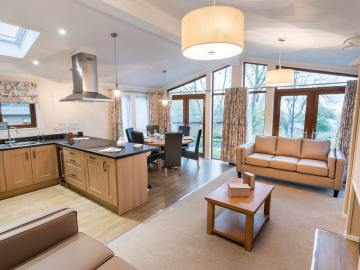 Country Lodge - Woodland Themed Interiors Open Plan Area- Tingdene