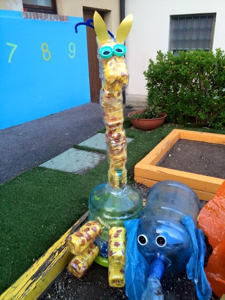 Riciclo creativo con i bambini