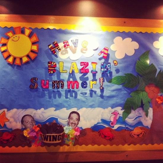 Have-A-Blazin-Summer-Bulletin-Board-Idea