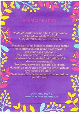 Poesia Per La Maestra Di Germana Bruno Mammaestra Maestra E Mamma