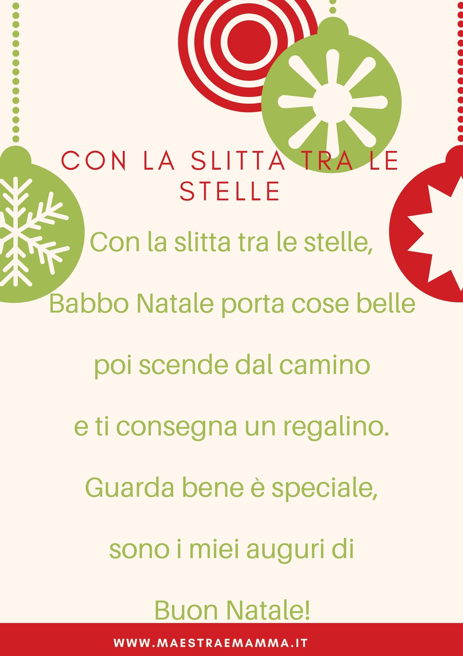 Poesia Per Il Biglietto Di Natale Maestra E Mamma Parliamo Di