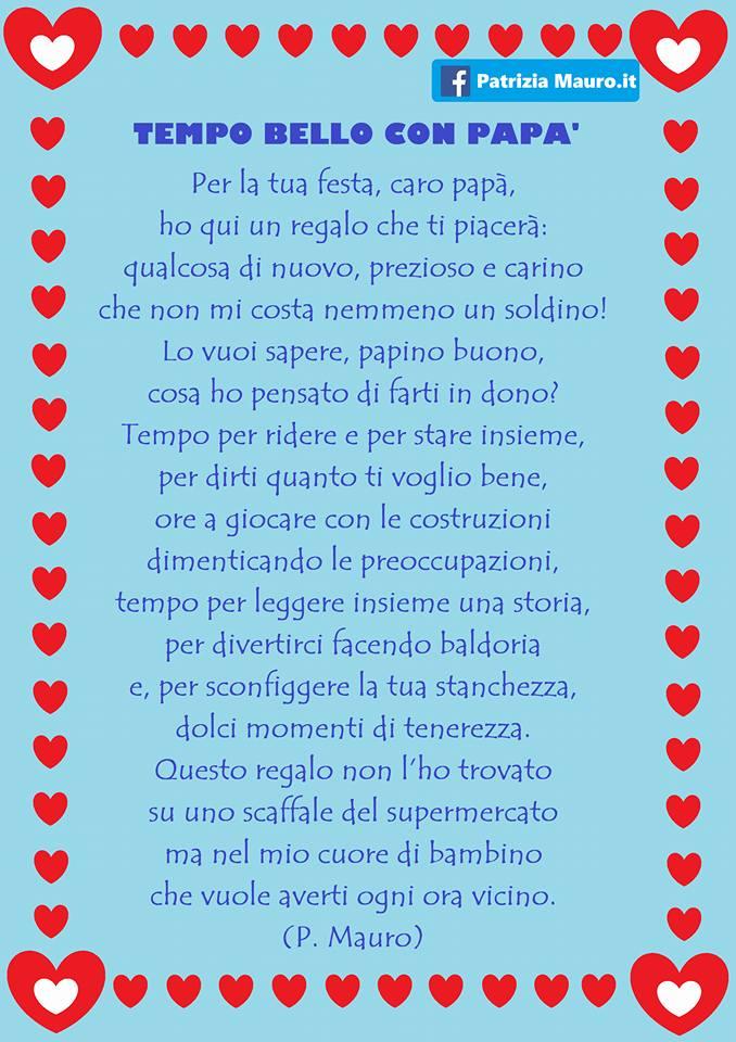 Tempo Bello Con Papà Poesia Per Festa Del Papà Maestra E Mamma