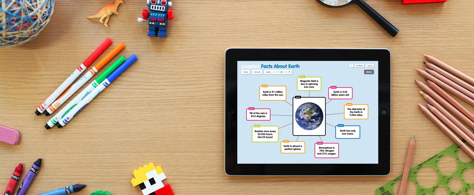 Popplet: un'app per creare mappe concettuali interattive
