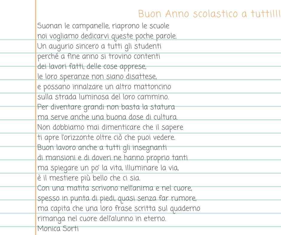 Lettura E Poesie Per I Primi Giorni Di Scuola Accoglienza