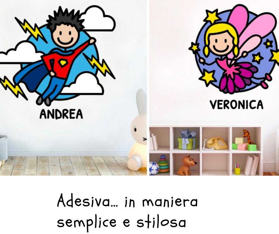 Come arredare la camera dei bimbi con Famiglia Adesiva… in maniera semplice e stilosa (ADESIVI MURALI)