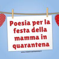 Poesia per la festa della mamma in quarantena