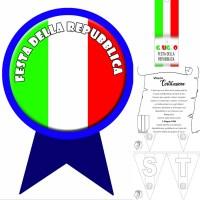 Festa della repubblica e dell'Unità d'Italia - scuola: schede, coccarde ...