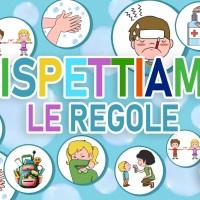 Covid: cartellone con le regole che i bambini dovranno seguire da settembre