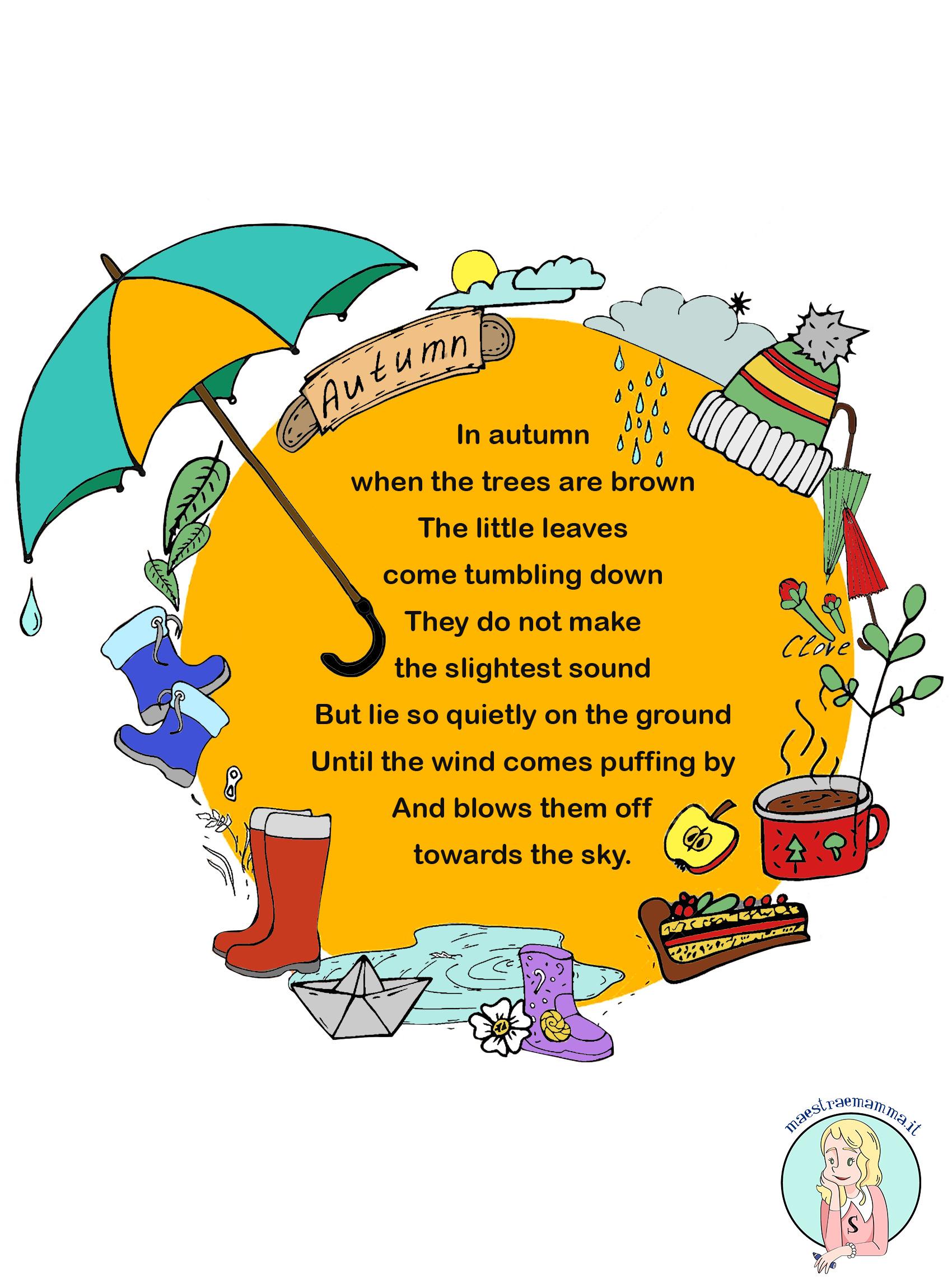 Poesie e filastrocche di natale in inglese. Autumn Poesia Sull Autunno Per Bambini In Inglese Maestraemamma