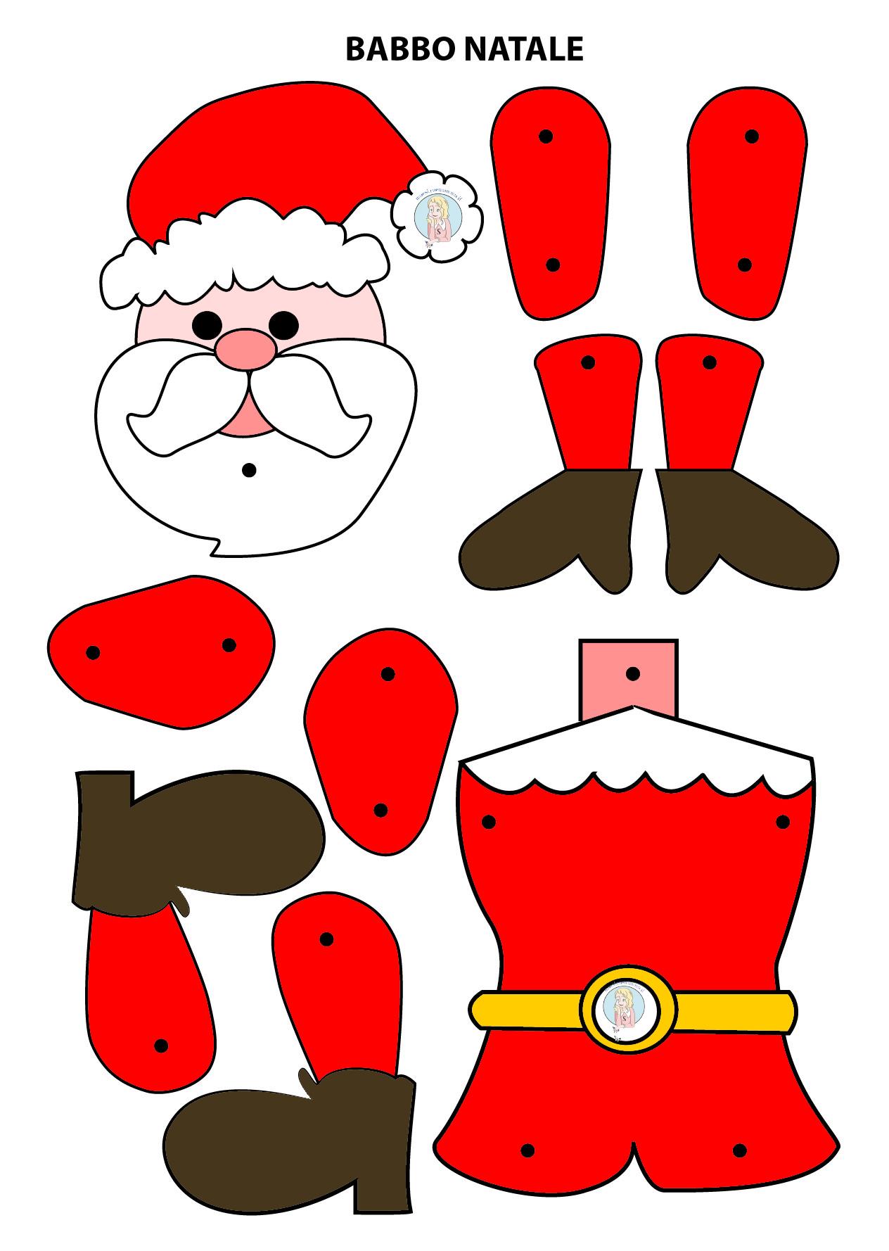Babbo Natale Da Ritagliare Costruire E Colorare Maestraemamma Risorse