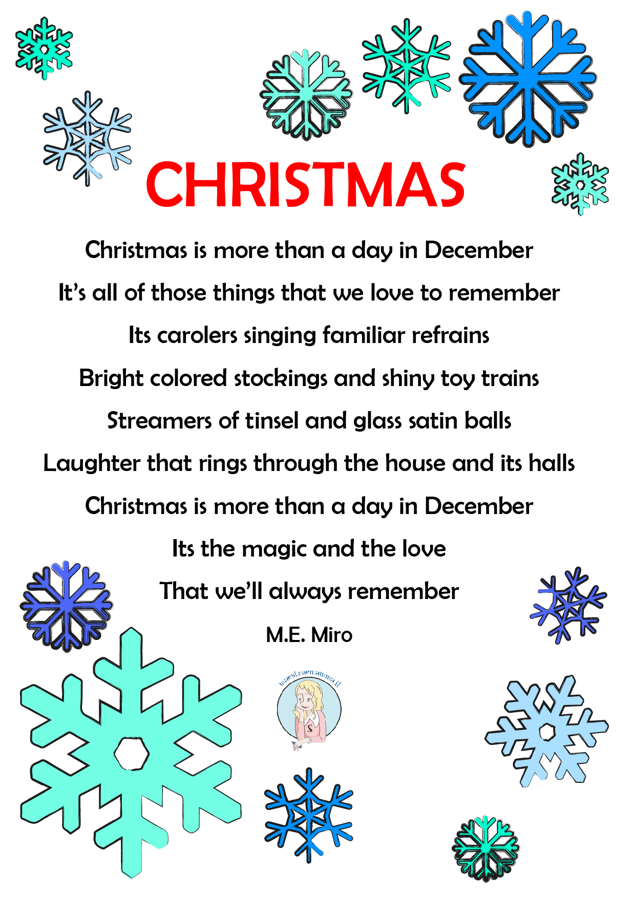 Poesie di natale per bambini | le più belle e famose poesie natalizie per bambini in italiano e in inglese, da imparare alla scuola dell'infanzia e alla. Poesia Natale Inglese Maestra E Mamma Parliamo Di Figli E Scuola Risorse Per Insegnanti Genitori E Bambini
