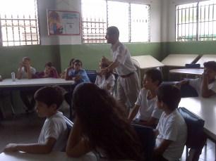 taller en el liceo Alfredo Ramón Delgado