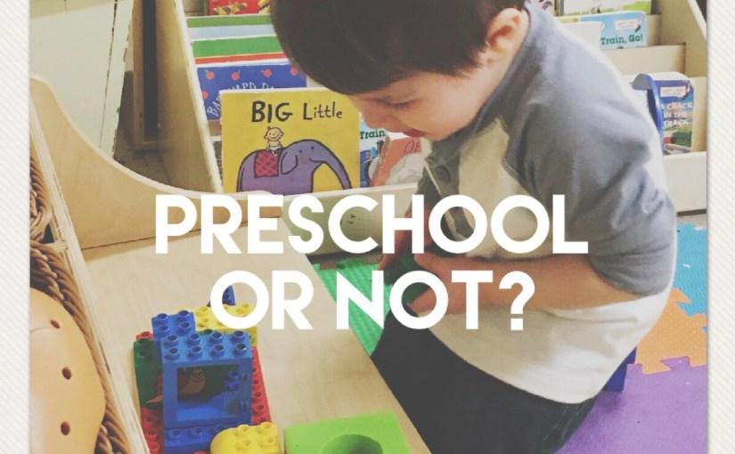 Preschoolers: To enroll or not to enroll?
