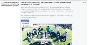 Desactivar reconocimiento facial etiquetado facebook