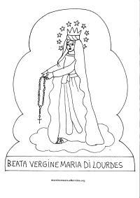 Maria Vergine Da Colorare 15 Disegni Da Colorare Di