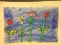 Big Flowers 2 Oil Pastel Resist Grade 1