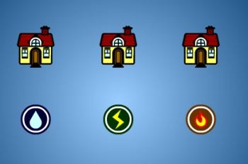 Las tres casas quieren tres servicios, Juego de Razonamiento