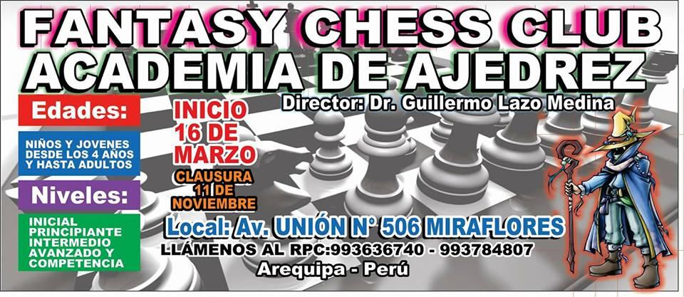 CLUB DE AJEDREZ «FANTASY CHESS CLUB» DE MIRAFLORES-Arequipa