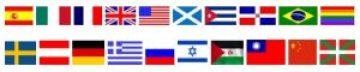 Maestros de ceeremonias bilingues banderas