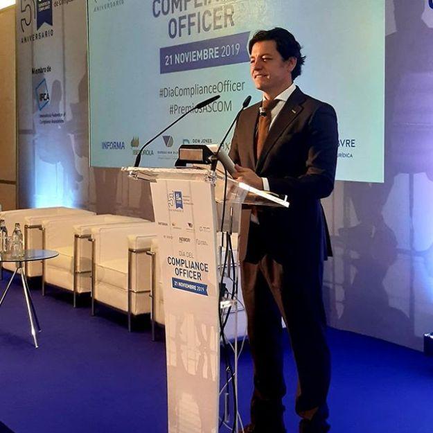 Presentando en Madrid el evento #diacomplianceofficer 2019 organizado por ASCOM