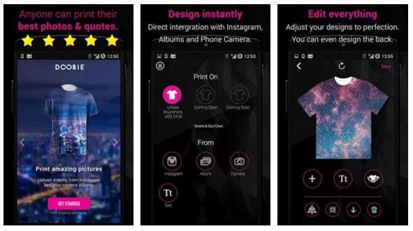 Aplikasi Desain Baju Bola dan Kaos Instant T- shirt Designer-Doobie