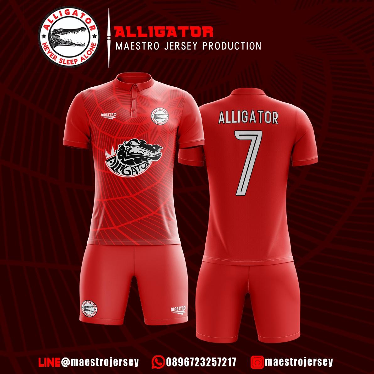 Desain Jersey Futsal Alligator Fc
