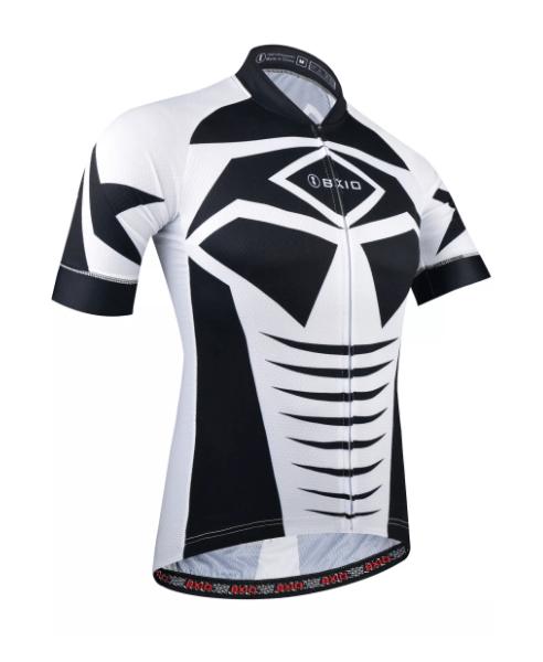 Membuat desain jersey sepeda hitam putih