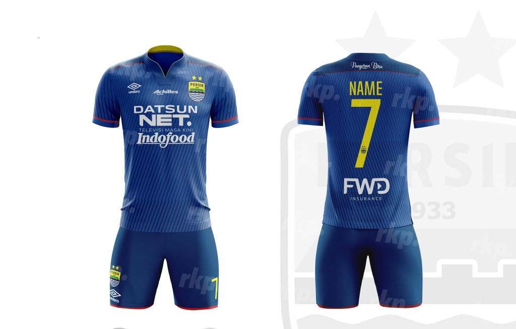 Desain Jersey Bola Persib Bandung