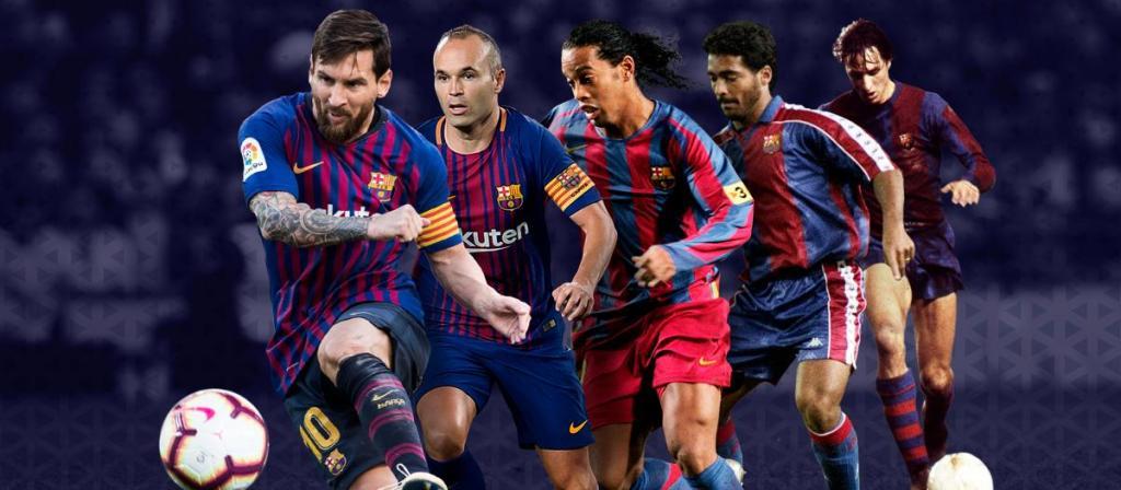kaos team sepak bola terbaik barcelona