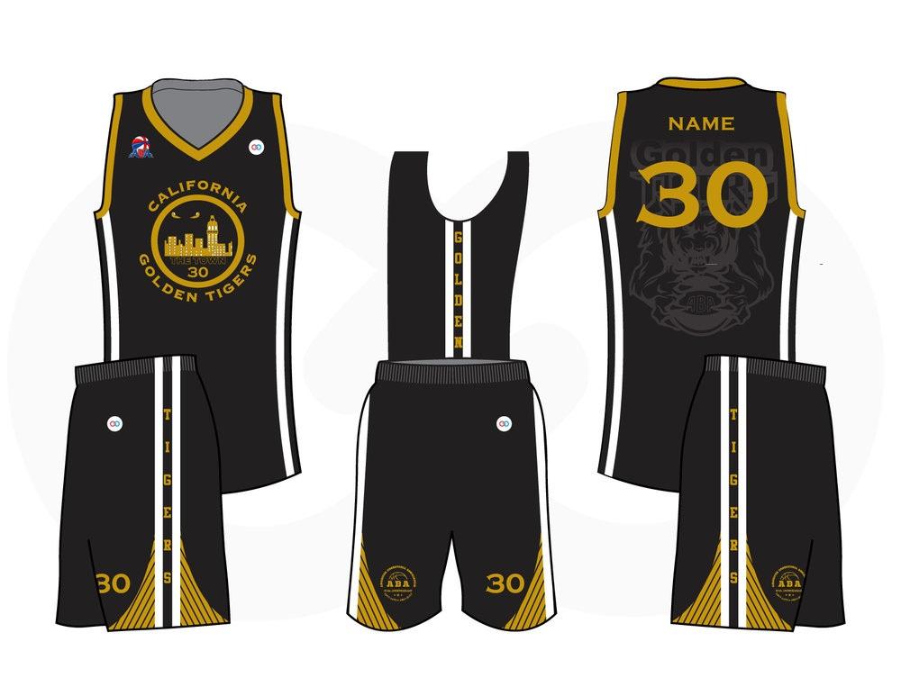 Desain Jersey Basket Golden Tigers