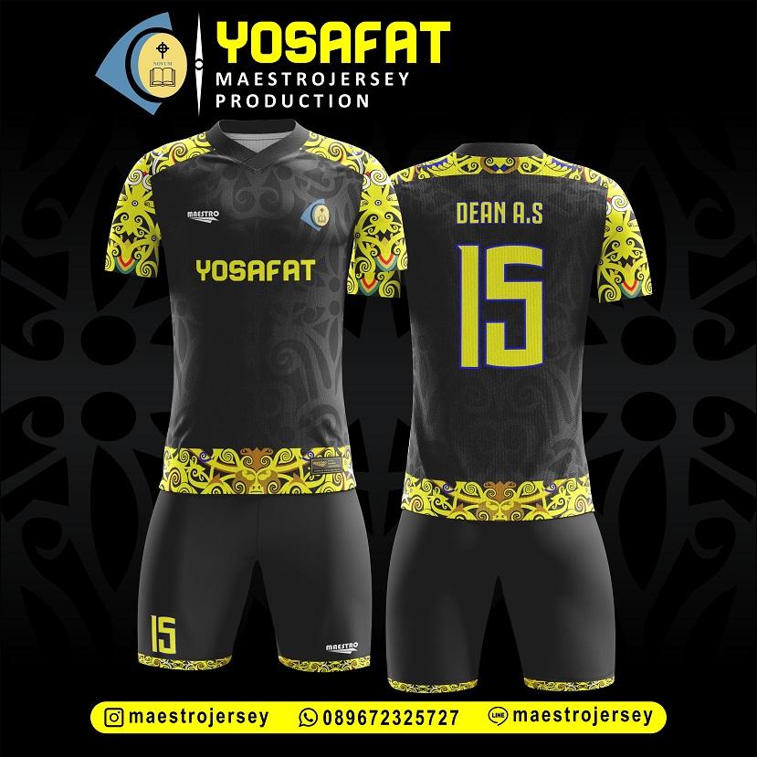 Desain Jersey Futsal Printing Batik Motif Dayak