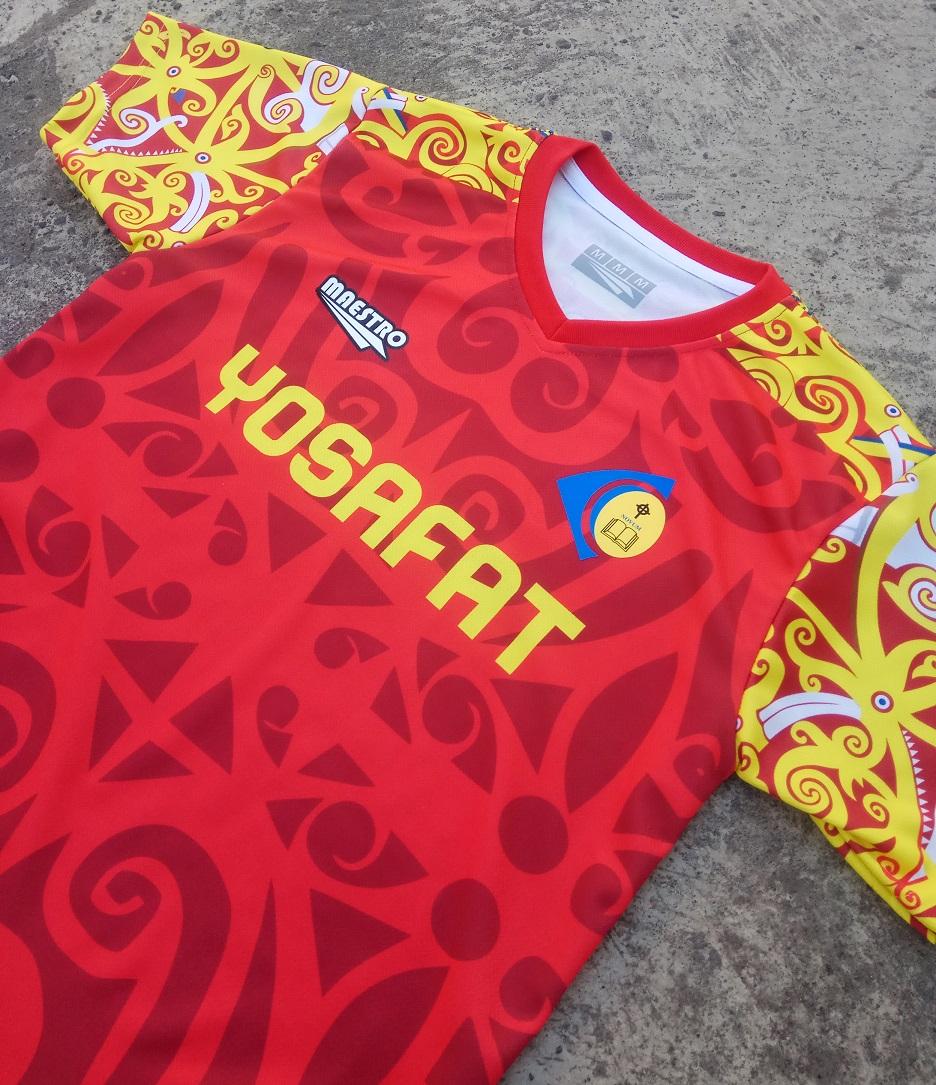 Jersey Futsal Printing Batik Motif Dayak