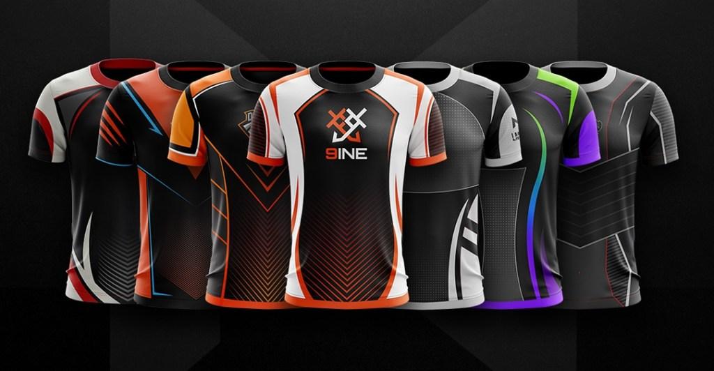 pilihan warna desain jersey esport