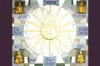 EL MURAL DEL SOL. OLORUN (el Sol), ORISHA-NLÁ (el Grandísimo Atributo), ORIÓN OSIRIS (la Constelación de Orión en la Nebulosa de Orionís), OBBÁ (la Representación de los Atributos), ORÍ (la Inteligencia), ODDÚA-ODUDUA ( el ADN Ancestral), DADÁ (la Motivación de la Creatividad), IBEYS (los Originadores de la Correlación de las Ideas Creativas), ODU OLOFIN (la Existencia de la Vida para alcanzar la Vida Existencial Vital) e ILÉ-IFE (el Paraíso Celestial Yoruba).