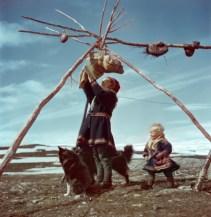 Familia lapona, Noruega, 1951.