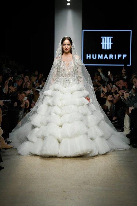 Humariff свадебное платье на mbfw russia