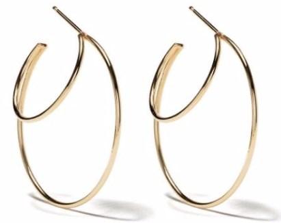 Золотые серьги-кольца Zoe Chicco