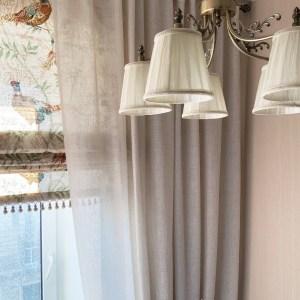 римские шторы в дизайне интерьера