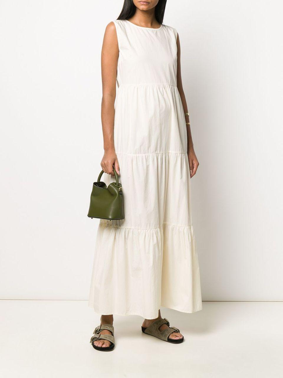 Woolrich ярусное платье макси