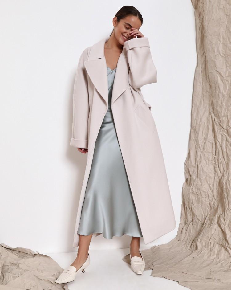 Длинное пальто с поясом 12 Storeez