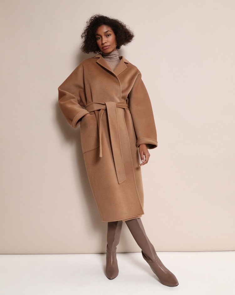пальто-халат кемел