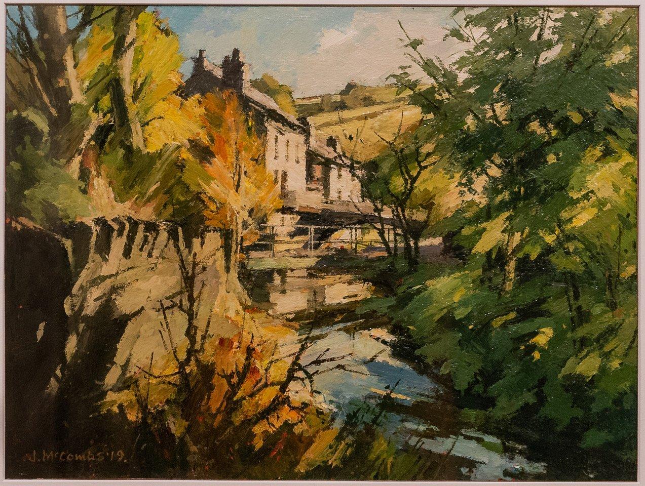 'Riverbanks, Saddleworth, Autumn' by John McCombs