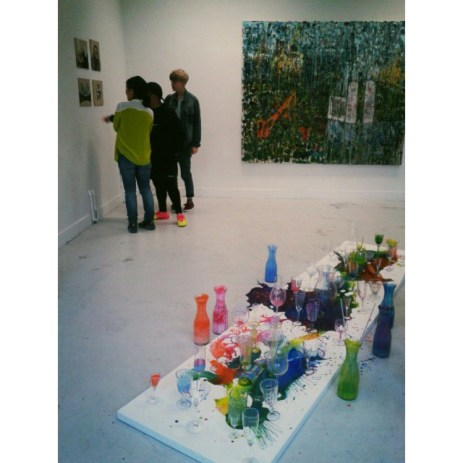 Installation view of 'CompoSITE' at Chelsea College of Arts, London. Image courtesy the artist.