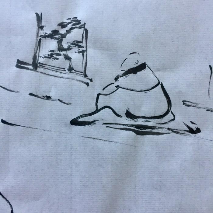 Hokusai monk