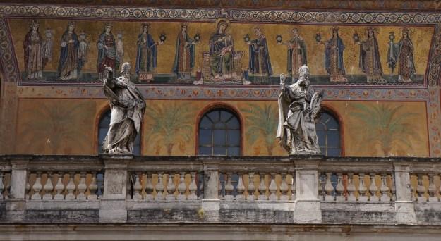 facade santa maria de Trastevere
