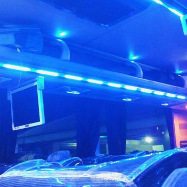 80s vibes from the Ceres bus lights