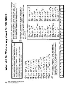 Pre Algebra With Pizzazz Worksheet Answers
