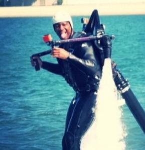 Jameis Winston Flying a Jetpack