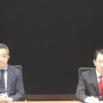 オンライン会見に臨んだ加藤隆雄CEO(右)と長岡宏Co-COO(左)。